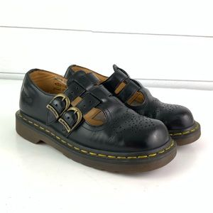Dr. Martens Black Mary Jane Leather Shoes Size 5